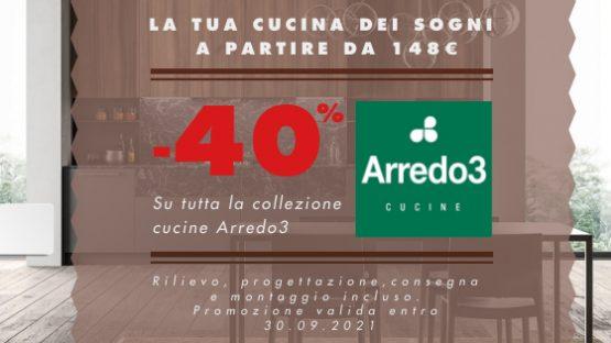 40% sconto Arredo3